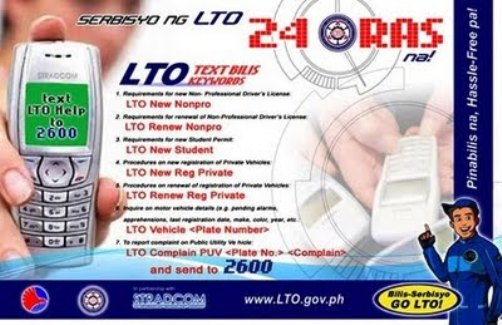 LTO Vehicle Profile Verification via SMS