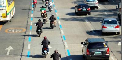 MMDA Motorcycle Lanes in EDSA